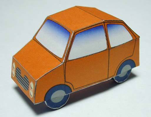 Very simple paper car free paper model papermodels l12g pronofoot35fo Choice Image