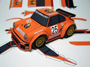 Porsche 934 Turbo Papercraft