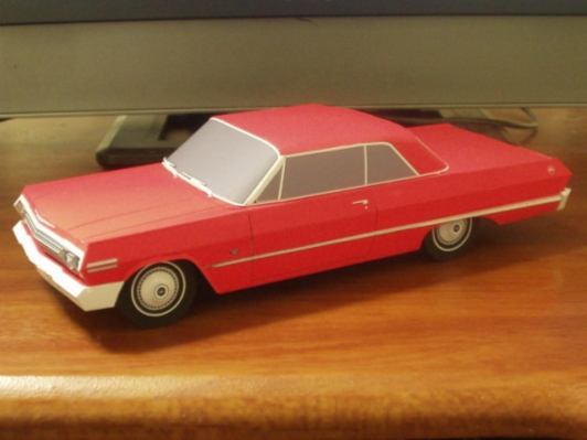 1963 Chevrolet Impala Paper Car - Papermodels